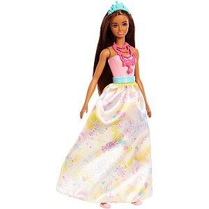 Boneca Barbie Princesa Dreamtopia Morena Doce - Mattel