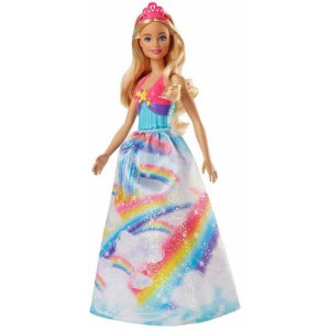 Boneca Barbie Princesa Dreamtopia Loira Arco Iris - Mattel