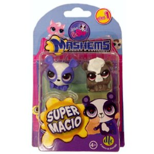 Miniaturas Colecionaveis Littlest Pet Shop Mashems - DTC