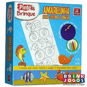 Pinte e Brinque Amarelinha para Colorir - Brincadeira de Criança