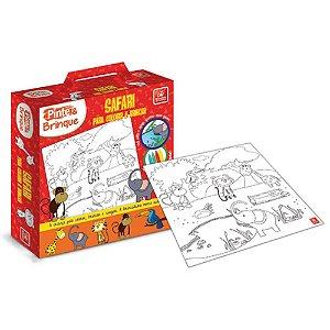 Pinte e Brinque Safari para Colorir - Brincadeira de Criança