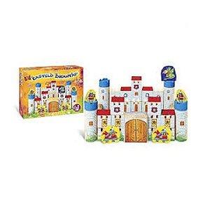 Castelo Encantado de Montar Madeira 64 Peças - Brincadeira de Criança