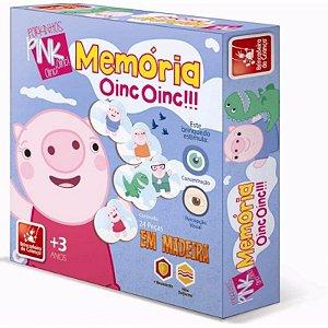 Jogo da Memória em Madeira Porkinha Oinc Oinc - Brincadeira de Criança