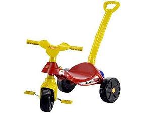 Triciclo Smile Bombeiro com Empurrador - Bieme
