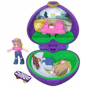 Boneca Polly Pocket Mini Piquenique Com Cachorrinho - Mattel