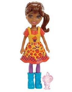 Boneca Polly Pocket Shani com Sorvete - Mattel