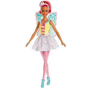 Boneca Barbie Fada Dreamtopia Cabelo Rosa - Mattel