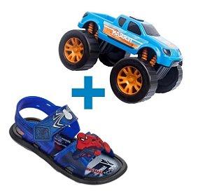 Sandália Infantil Homem Aranha Spider Man Azul - Grendene