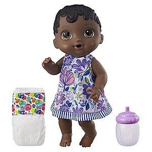 Boneca Baby Alive Hora do Xixi Negra com Acessórios - Hasbro