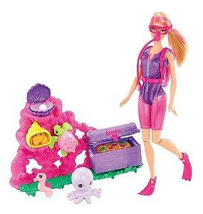 Boneca Barbie Quero Ser Caçadora De Tesouros - Mattel