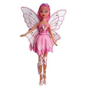 Boneca Fada Encantada Rosa - Fenix