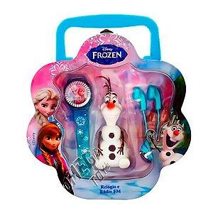 Kit Disney Frozen Rádio e Relógio Digital Elsa - Candide