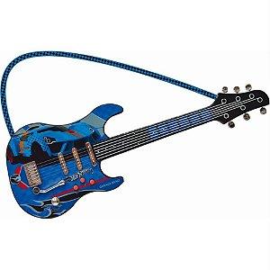 Guitarra Infantil Luxo Radical Hot Wheels - Fun