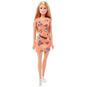 Boneca Barbie Fashion Beauty Loira Vestido Laranja - Mattel
