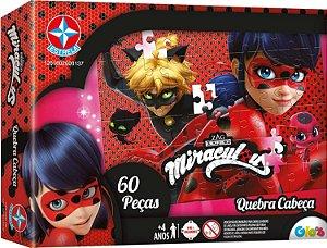 Jogo Quebra Cabeça Miraculous Ladybug 60 Peças - Estrela
