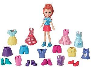 Boneca Polly Lila Fashion Brilho Perolado - Mattel