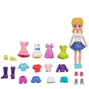 Boneca Polly Pocket Kit de Roupinhas Marinheira - Mattel