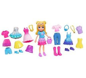 Boneca Polly Pocket Pronta Para A Festa Polly Kit Fabuloso - Mattel