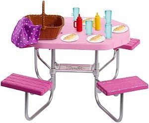 Móveis da Barbie Real Mesa de Piquenique - Mattel