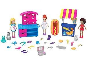 Polly Pocket Pack Quiosque de Moda e Lanchinhos - Mattel