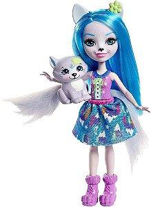 Boneca Enchantimals Bichinho Pequeno Winsley Wolf - Mattel