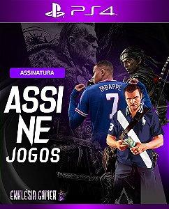 ASSINATURA DE JOGOS PS4 MÍDIA DIGITAL (2 JOGOS)