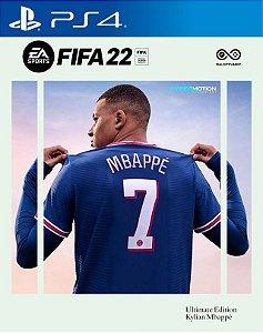 FIFA 22 Edição Ultimate PS4 MÍDIA DIGITAL