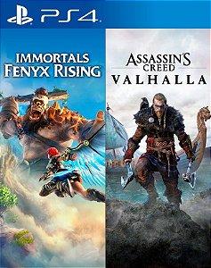Pacote Assassin's Creed® Valhalla + Immortals Fenyx Rising™ ps4 midia digital