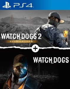 Watch Dogs 1 + Watch Dogs 2 Gold Editions Bundle ps4 midia digital