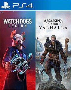 Bundle Assassin's Creed Valhalla + Watch Dogs: Legion ps4 midia digital