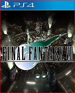 final fantasy vll remake ps4 psn mídia digital