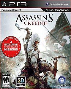 Assassins creed 3 ps3 psn midia digital