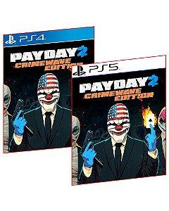 PAYDAY 2 CRIMEWAVE EDITION PS4 E PS5 MÍDIA DIGITAL