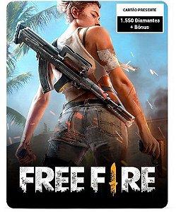 Free Fire 1.550 Diamantes + Bônus - Cartão Presente Digital