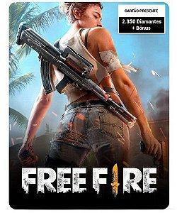 Free Fire 2.350 Diamantes + Bônus - Cartão Presente Digital