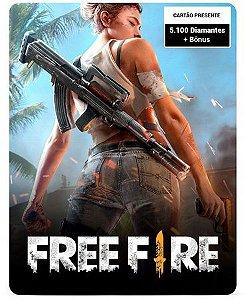 Free Fire 5.100 Diamantes + Bônus - Cartão Presente Digital