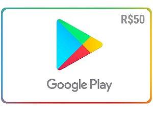Gift Card Google play R$ 50 reais