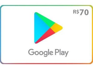 Gift Card Google play R$ 70 reais