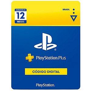 PLAYSTATION PLUS   Cartão PSN PLUS 12 Meses - Playstation Network Brasil