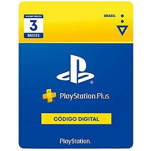 PLAYSTATION PLUS | Cartão PSN PLUS 3 Meses - Playstation Network Brasil