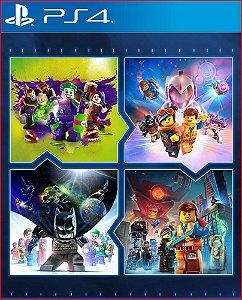 CONJUNTO DE JOGOS LEGO PS4 MÍDIA DIGITAL PSN