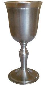 Cálice Taça Clássico Para Vinho Tinto Em Estanho Ouro Preto 140 Ml