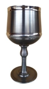 Taça Imperial Para Vinho E Água Em Estanho 270 Ml