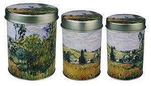 Latas Decorativas Organizadoras Com 3 Peças da obra Vetheuil De Monet