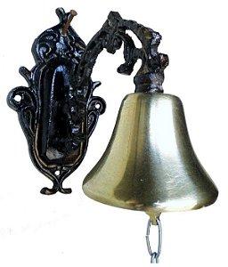 Sino De Parede Alumínio E Bronze Decoração Presentes Som