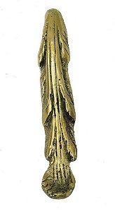 Aplique Em Bronze Móveis 10,5 Cm Quina Cômoda Pés Mesa Arcas