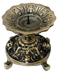 Castiçal Vela 7 Dias Bronze Presente Igreja Religião Fé Casa
