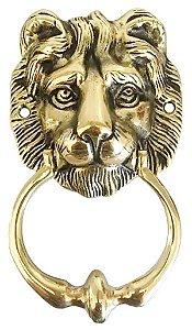 Aldrava Leão Batedor De Porta Bronze Batente Grande Selva