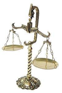 Símbolo Do Direito Balança Cobra Em Bronze Decoração Justiça Advogados