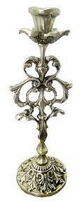 Castiçal Em Bronze Para Uma Vela Floral 24 Cm De Altura Capelas Igrejas